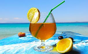Thé glacé citroné