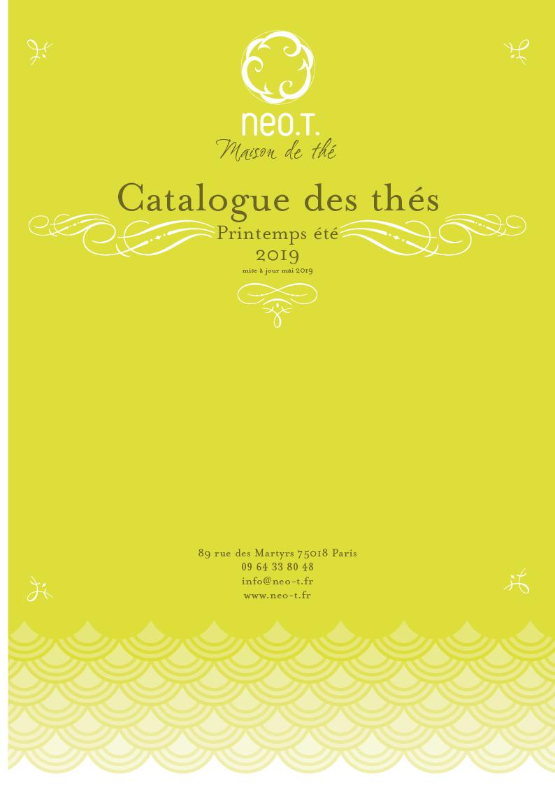 Catalogue des thés neo.T. page 1