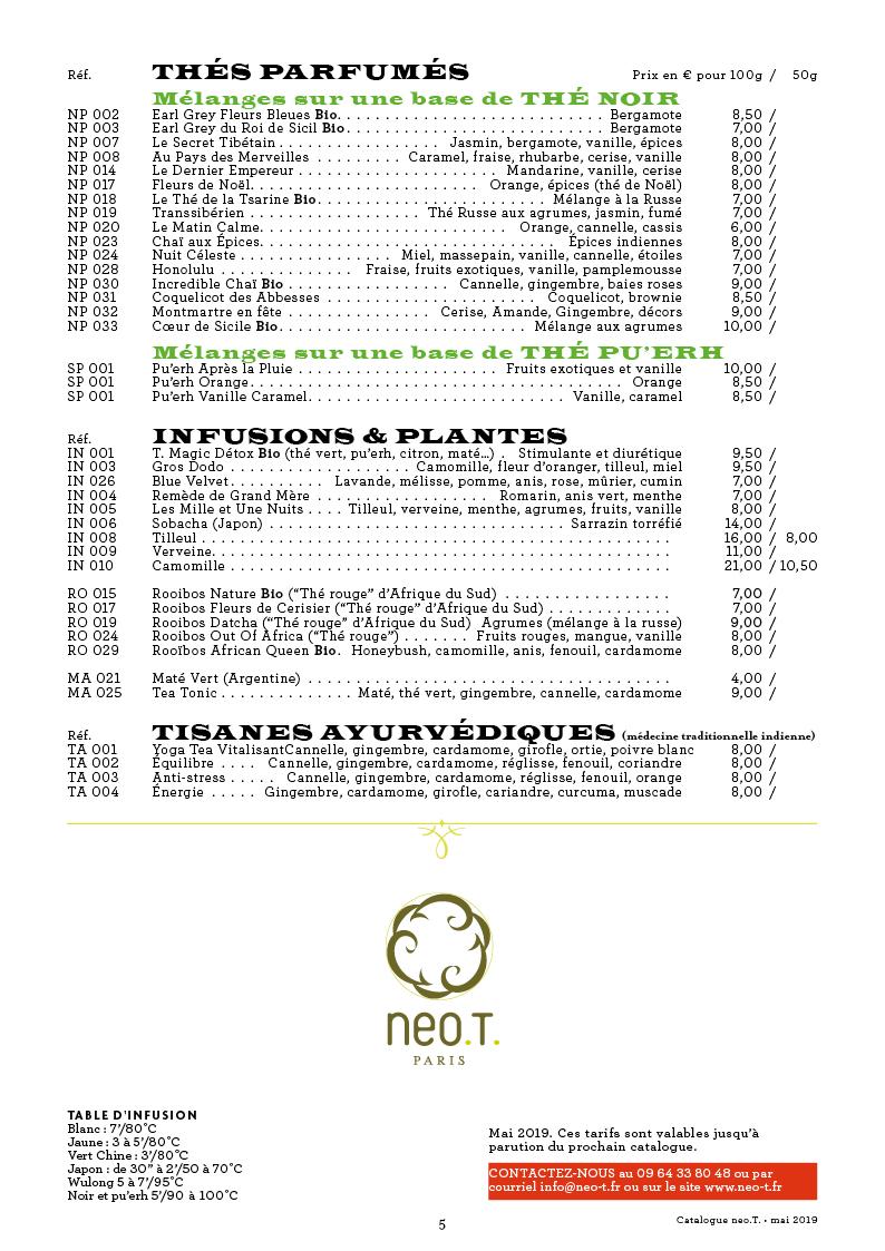 Catalogue des thés neo.T. page 5