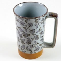 Mug japonais Fleur Cool Grey