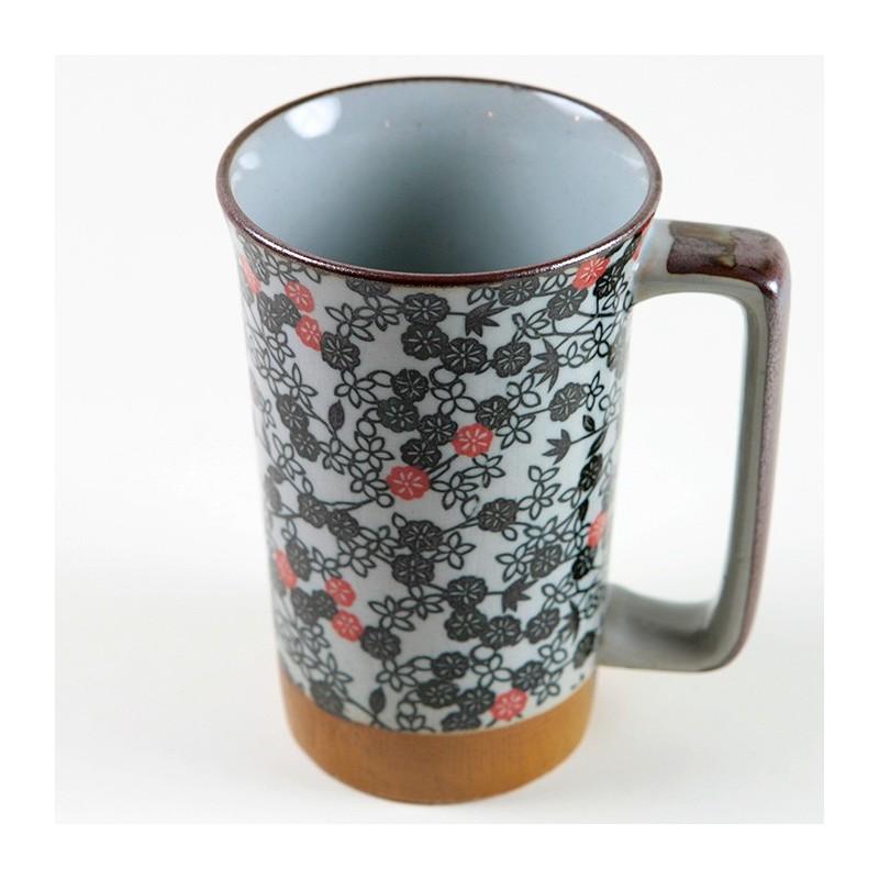 Mug Fleurs noires et rouges