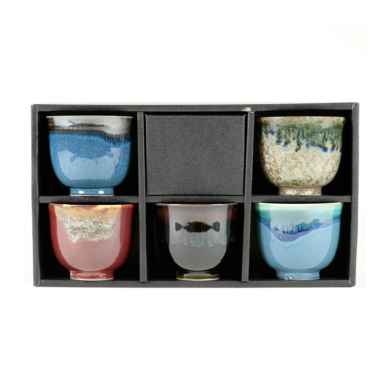 Coffret 5 tasses japonaises