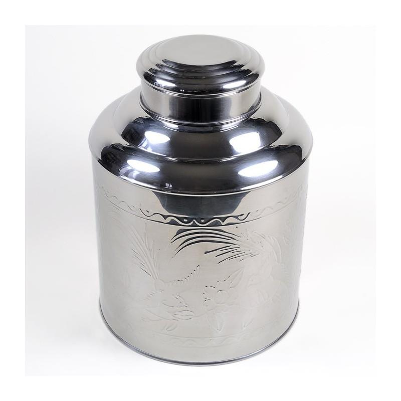 Boîte à thé inox martelé 1,5 kg