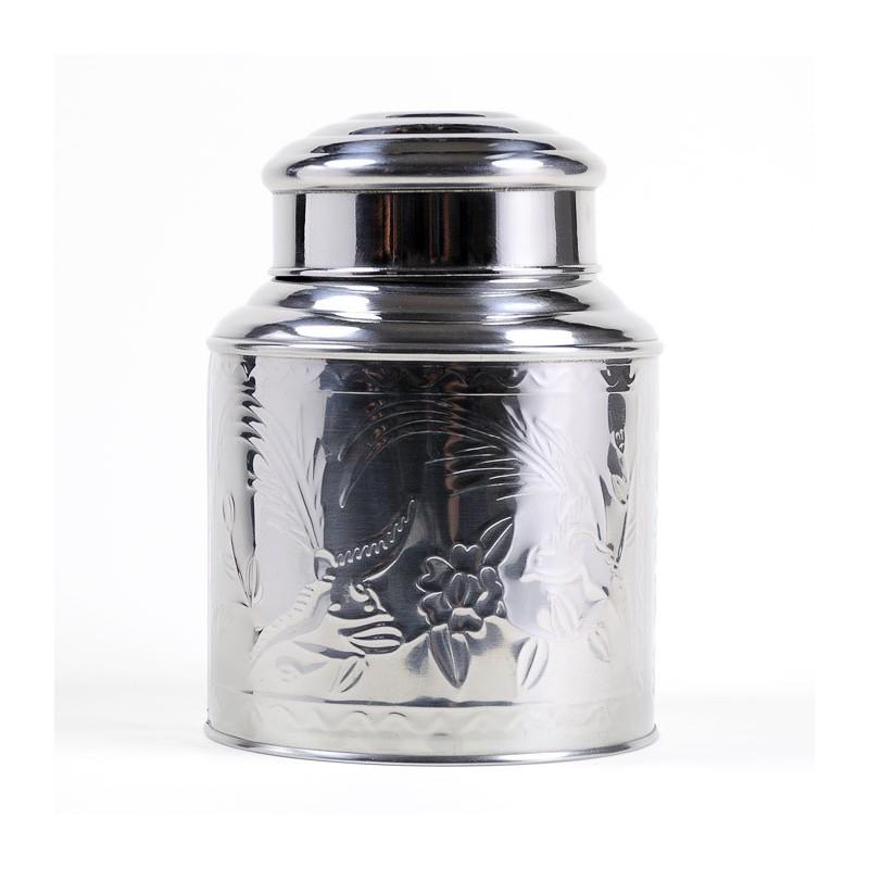 Boîte à thé inox martelé 500g