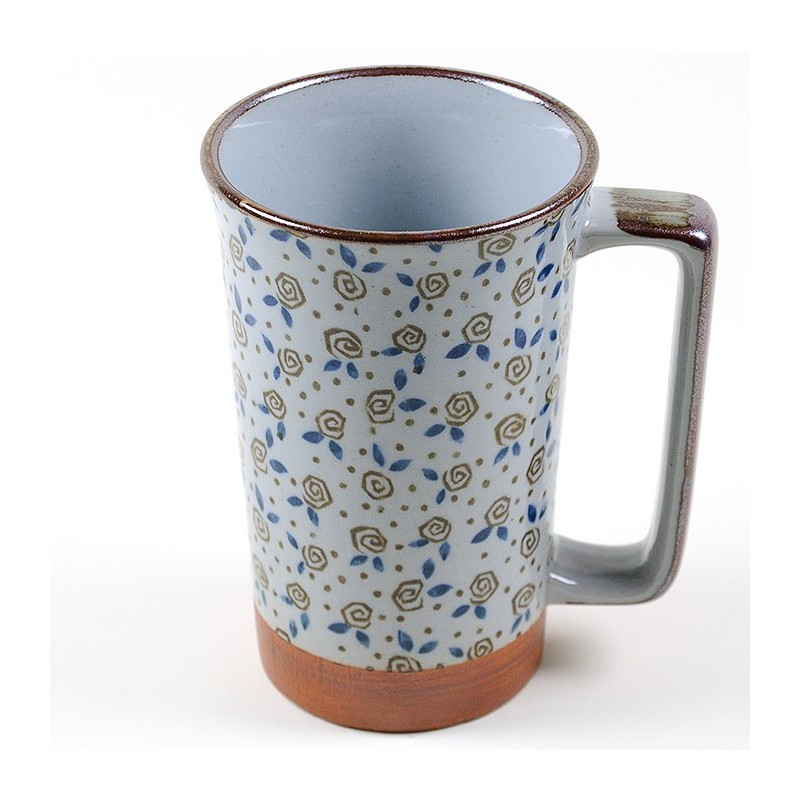 Mug  japonais Fleurs brunes