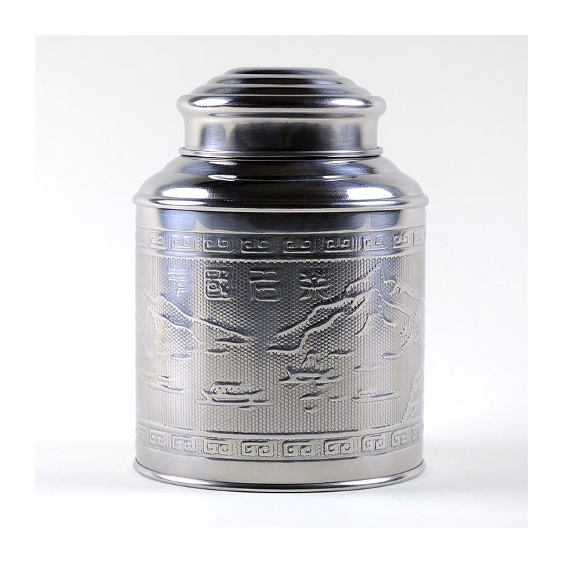 Boîte à thé inox martelé 200g