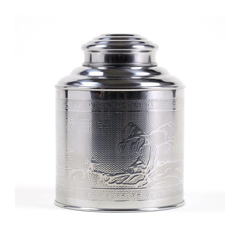 Boîte à thé inox martelé 300g