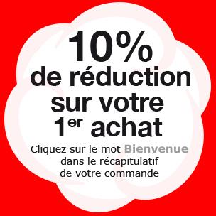 10% de réduction sur votre premier achat