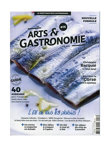 couverture du magazine Arts & Gastronomie #16
